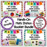 Math Station Hands-On Booklet Bundle - (All 4th grade CC) - Distance Learning