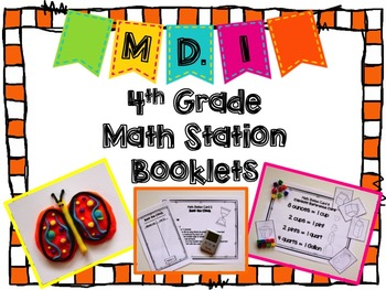 Hands-On Math Station Booklet - MD.1 {Measurement and Data}  Common Core