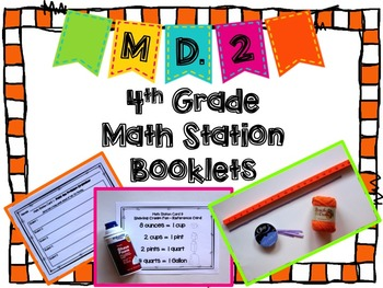 Hands-On Math Station Booklet - MD.2 {Word Problems / Meas