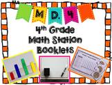 Hands-On Math Station Booklet - MD.4 {Fraction Line Plots}