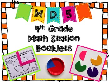 Hands-On Math Station Booklet - MD.5 {Angle Measurement} Common Core