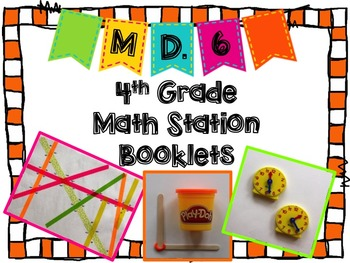 Hands-On Math Station Booklet - MD.6 {Measurement / Protra