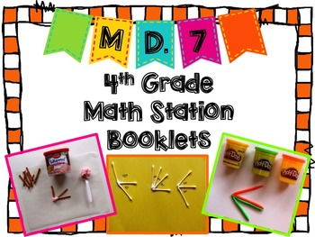 Hands-On Math Station Booklet - MD.7 {Angle Measurement / Additive}