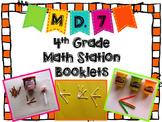 Hands-On Math Station Booklet - MD.7 {Angle Measurement / Additive}