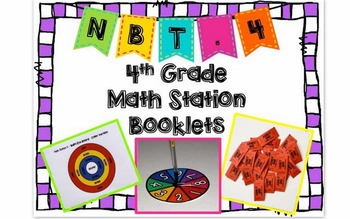 Hands-On Math Station Booklet - NBT Bundle {All 4th Grade NBT Standards}