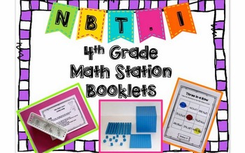 Hands-On Math Station Booklet - NBT.1 {Operations in Base