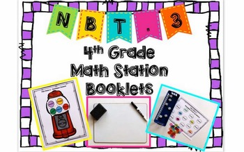Hands-On Math Station Booklet - NBT.3 {Rounding / Place Value}