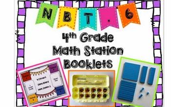 Hands-On Math Station Booklet - NBT.6 {Division / Quotients / Remainders}