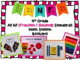 Hands-On Math Station Booklet - NF Bundle {All 4th Grade Fraction Standards}