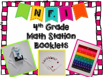 Hands-On Math Station Booklet - NF.1 {Equivalent Fractions} Common Core