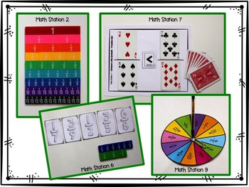 Hands-On Math Station Booklet - NF.2 {Comparing Fractions} Common Core