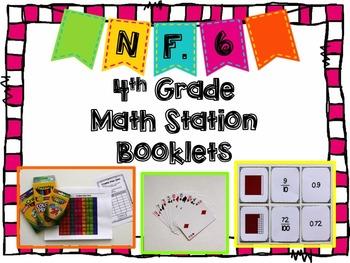 Hands-On Math Station Booklet - NF.6 {Decimals / Decimal Notation / Fractions}