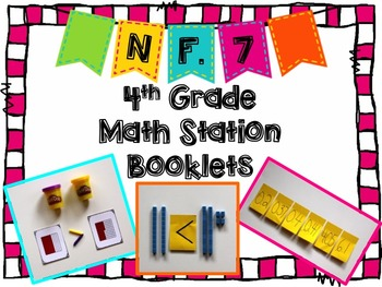 Hands-On Math Station Booklet - NF.7 {Comparing Decimals}