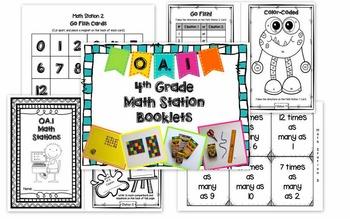 Hands-On Math Station Booklet OA Bundle {ALL 4th Grade OA Standards}