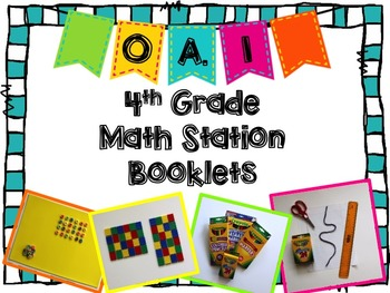 Hands-On Math Station Booklet - OA.1 {multiplication equations} 4th grade