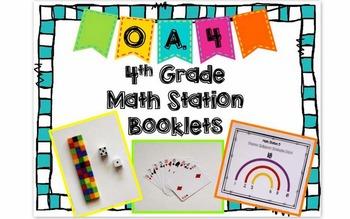 Hands-On Math Station Booklet - OA.4 {Factors / Multiples