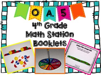 Hands-On Math Station Booklet - OA.5 {Patterns} FREE