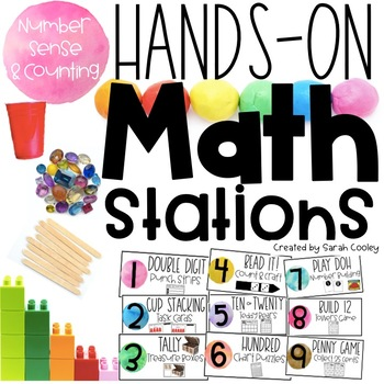 Hands On Math Stations:  Number Sense & Counting