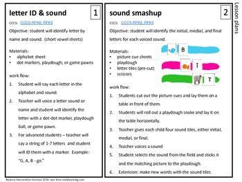 Hands-On Phonemic Awareness Activities - Kindergarten Screening