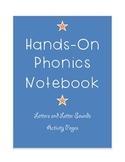 Hands On Phonics Notebook for Kindergarten or Preschool