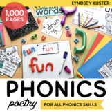 Independent Hands-On Phonics Poems Bundle