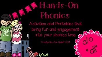 """Hands-On Phonics: the a/o  """"all"""" sound"""