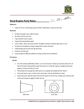 Hands On Physics -- Particular Engine (tm) Party Relay