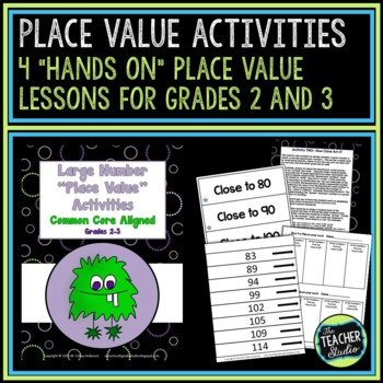 Hands On Place Value Activities for Grades 2 and 3--CCSS