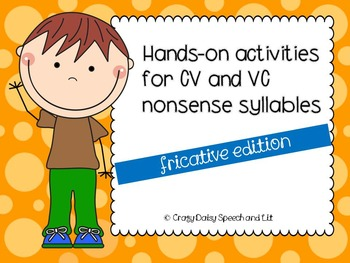 Hands-On Practice for CV and VC Nonsense Syllables