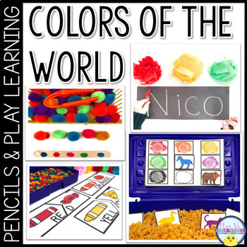 Pencils & Play Preschool Curriculum: Colors of the World