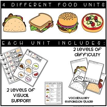 Communication Skills Program: Speech Therapy Requesting Unit Food Theme