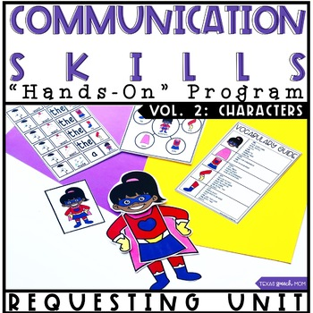 Hands On Program: Requesting Unit in Speech and Language Therapy (Characters)