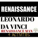 Renaissance 4 Station Activities with Renaissance Man DaVinci RECENTLY UPDATED