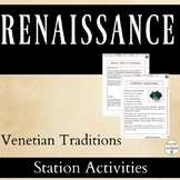 Renaissance Station Activities for masks, politics, and mo