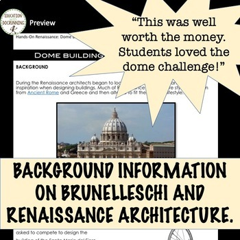 Renaissance Dome Building with Brunelleschi station activity RECENTLY UPDATED