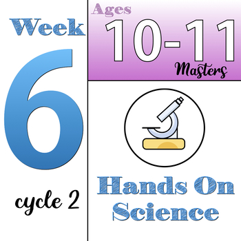 Hands-On Science, CC Cycle 2, week 6 (ages 10&11) Classical Conversations