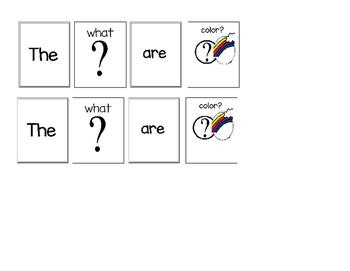 """Hands On Sentences """"Colors"""""""