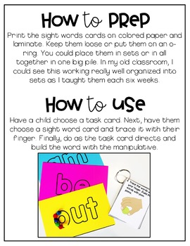 Hands-On Sight Word Activities