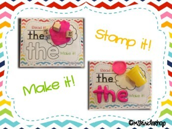 Hands-On Sight Word Play Dough Mats {Dolch Pre-Primer}
