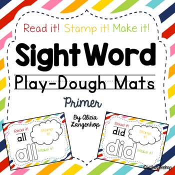 Hands-On Sight Word Play Dough Mats {Dolch Primer}