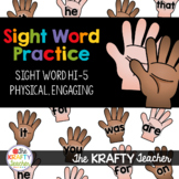Hands On Sight Word Practice, Kindergarten, First Grade, Fun, Engaging