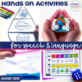 Hands On Speech and Language Activities - Weather and Water Cycle Theme