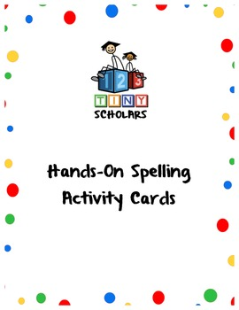 Hands-On Spelling Activity Cards