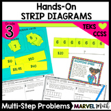 Hands-On Strip Diagrams with Multi-Step Multiplication Problems