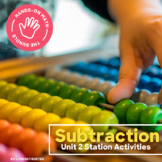 Hands-On Math: Subtraction Station Activities