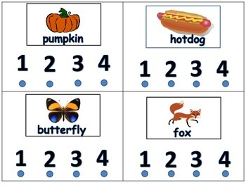Hands On Syllable Counting Self Checking Activity for Literacy Centers