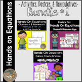 Hands On Equations - Bundle - Posters, Classwork, Homework