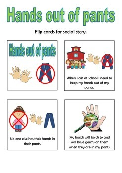 hands out of pants social story flip book by thinking tree resources. Black Bedroom Furniture Sets. Home Design Ideas