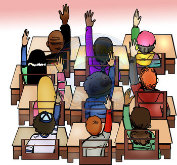 Hands Raised (Front & Back View COMBO) CommUNITY  80 pc. Clip-Art BW/Color