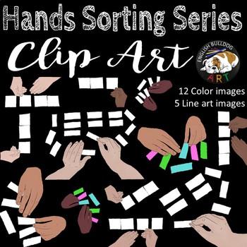 Hands Sorting Clip Art Set
